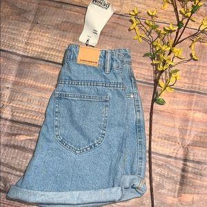 NWT Zara Mom High Rise Fit Shorts